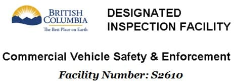 BC Designated Inspection Facility endorsement.