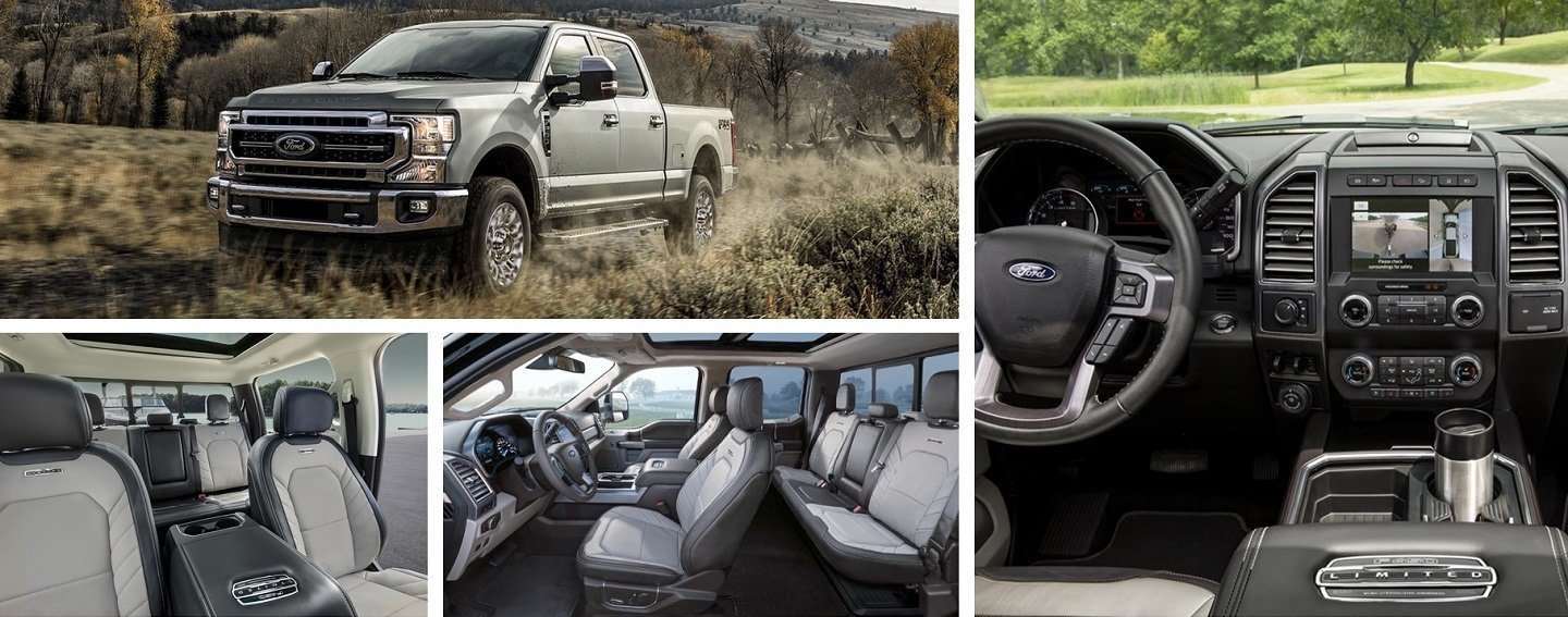 Ford F 350 interior design, seating capacity and other tech features
