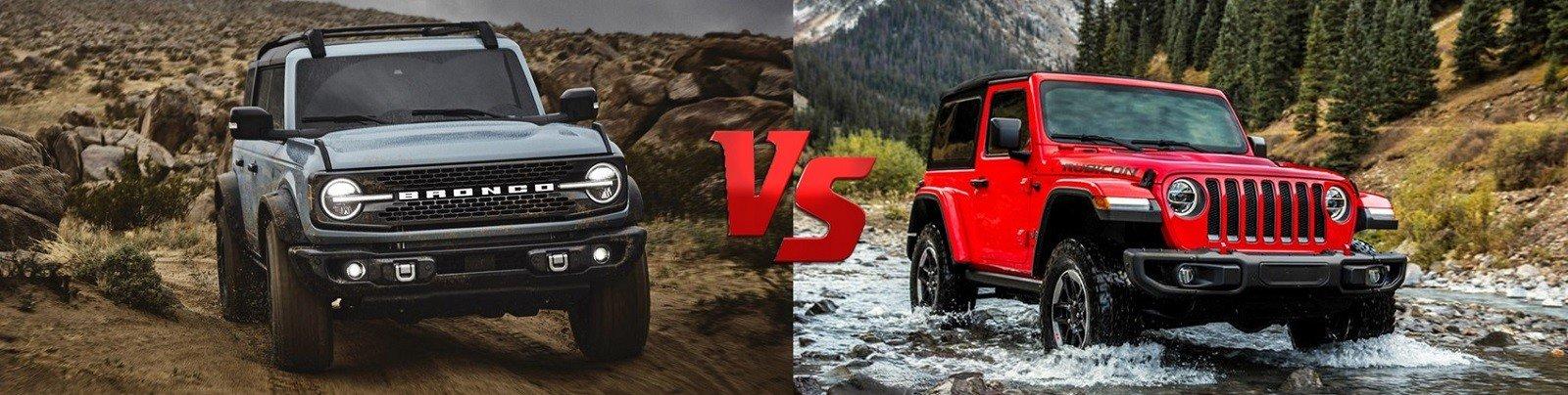2021 Ford Bronco vs the New Jeep Wrangler