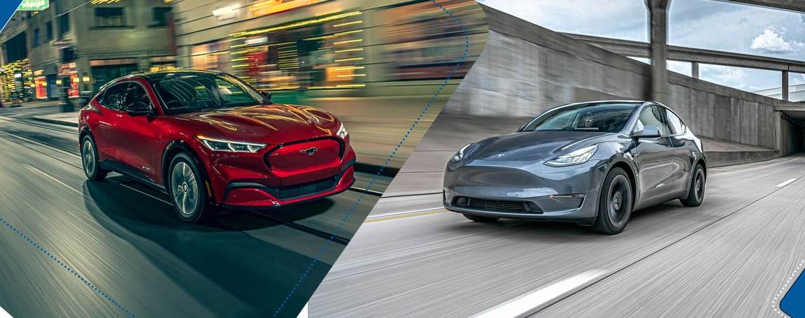 Mustang Mach E vs Tesla Model Y