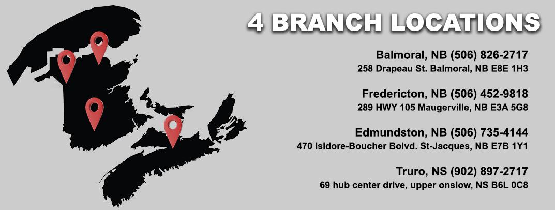A.L.P.A. Equipment Ltd. Branch Locations