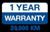 1 Year Warranty - 20,000 KM